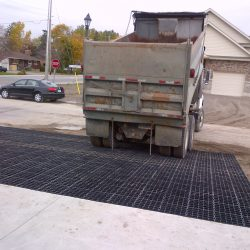 Residential Driveway With Erosion Control Matting - B8 Ventures
