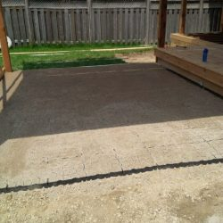 Backyard Patio With Permeable Ground Reinforcement - B8 Ventures
