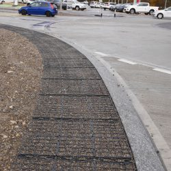 Road Shoulder With Permeable Paving - B8 Ventures