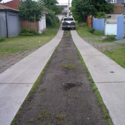 Dirt Walkway Before B8 Ventures Permeable Grass Stabilization