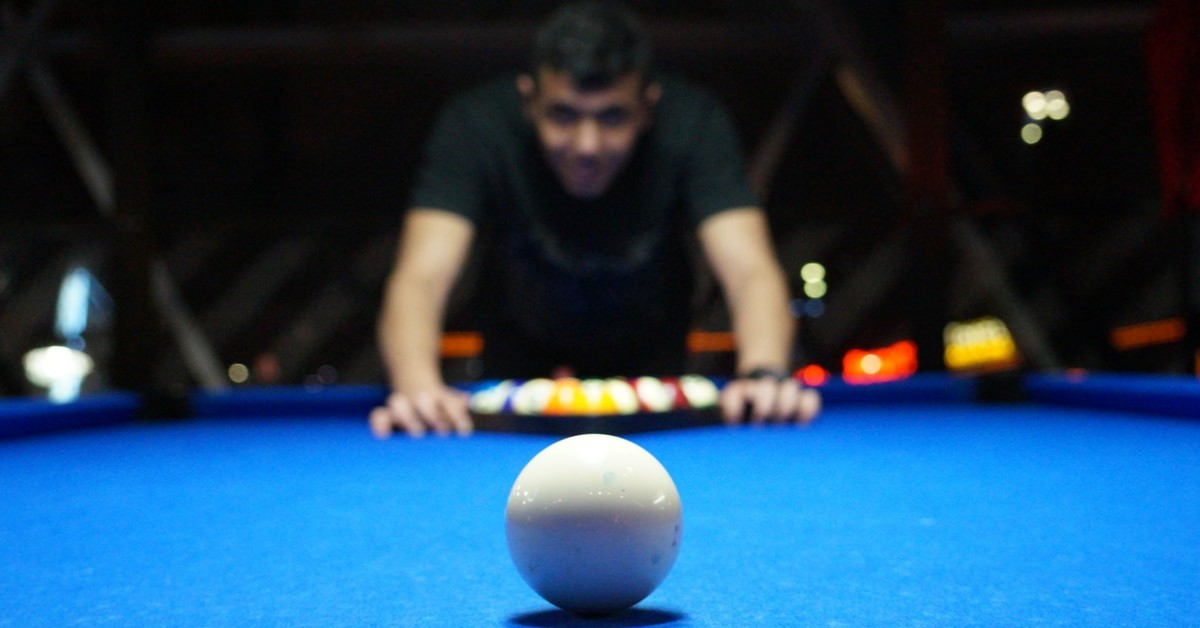 playing pool at Backyard Billiards in LBV