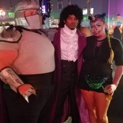 Image of Prince and some fans at Backstage Billiards