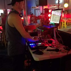 Image of the DJ during the Halloween 2018 party