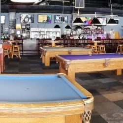 Panoramic of Pool Hall at Backstage Billiards