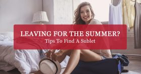 """Leaving for the summer? Tips to find a sublet"" Banner"