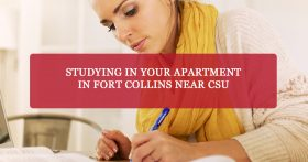 """Studying in your apartment in Fort Collins near CSU"" Banner"