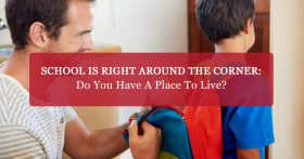"""School is right around the corner: Do you have a place to live?"" CTA"