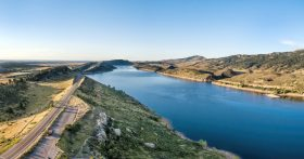 Horsetooth lake, a recreation area near Fort Collins.