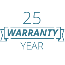 25 Year Warranty Badge