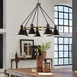 Sea Gull Towner Dining Room Light Fixtures at Hermitage