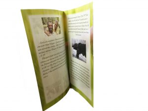 funeral handouts are printed on high quality paper