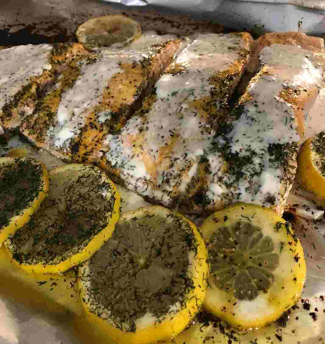 Salmon With Creamy Lemon Sauce Galveston Diet
