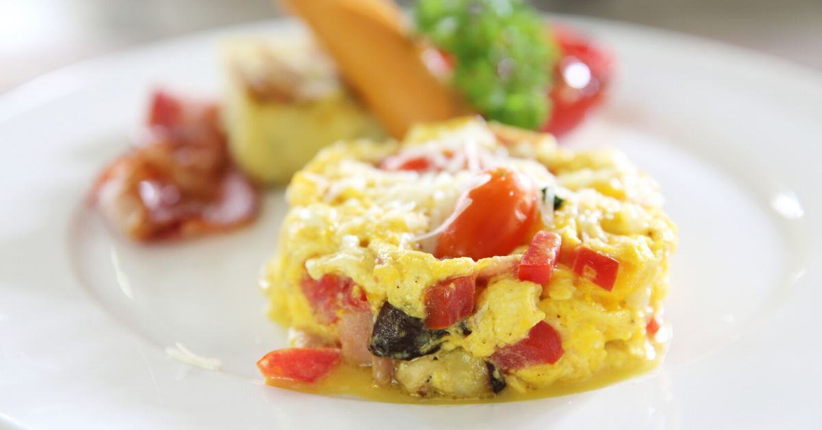 Scrambled Eggs with Spinach and tomato