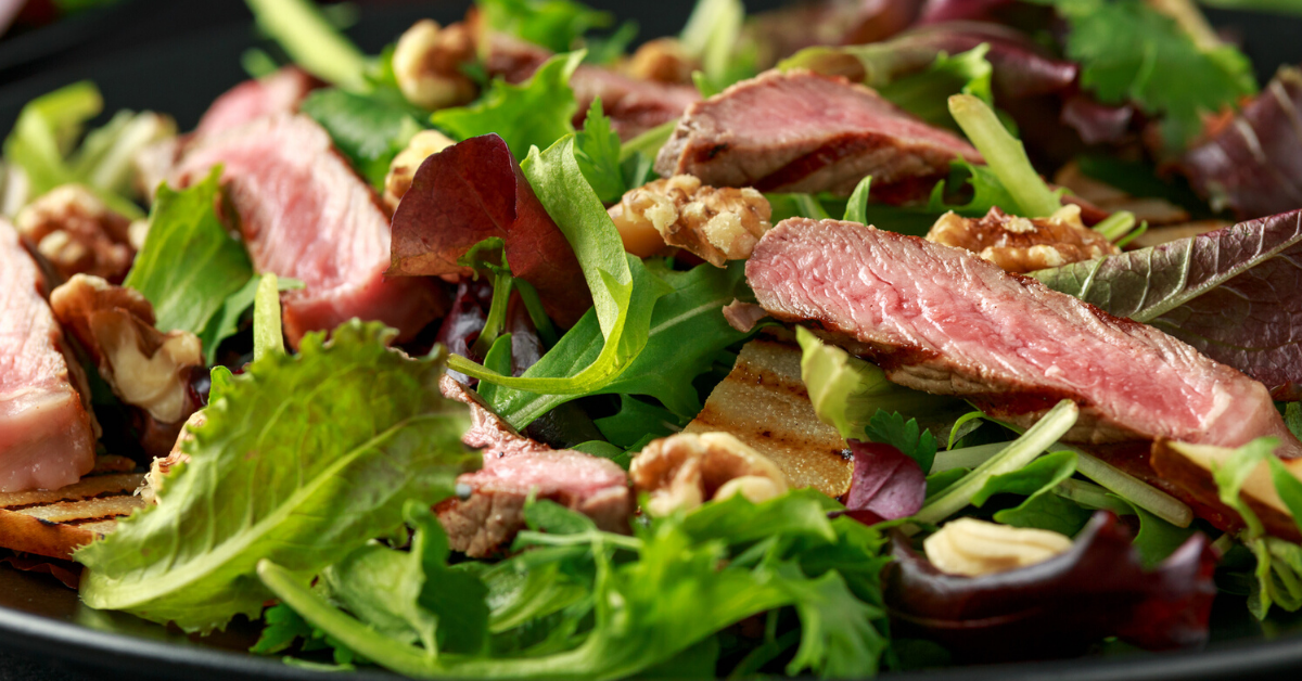 Sirloin Steak Spinach SaladS