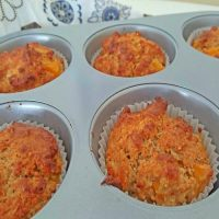 Peaches and Natural Yogurt Breakfast Muffins