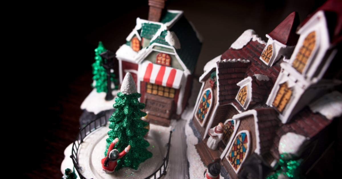 Image of a model of a winter village.