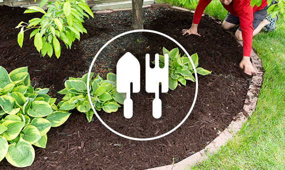 Landscaping Mulch With Shovel Icon