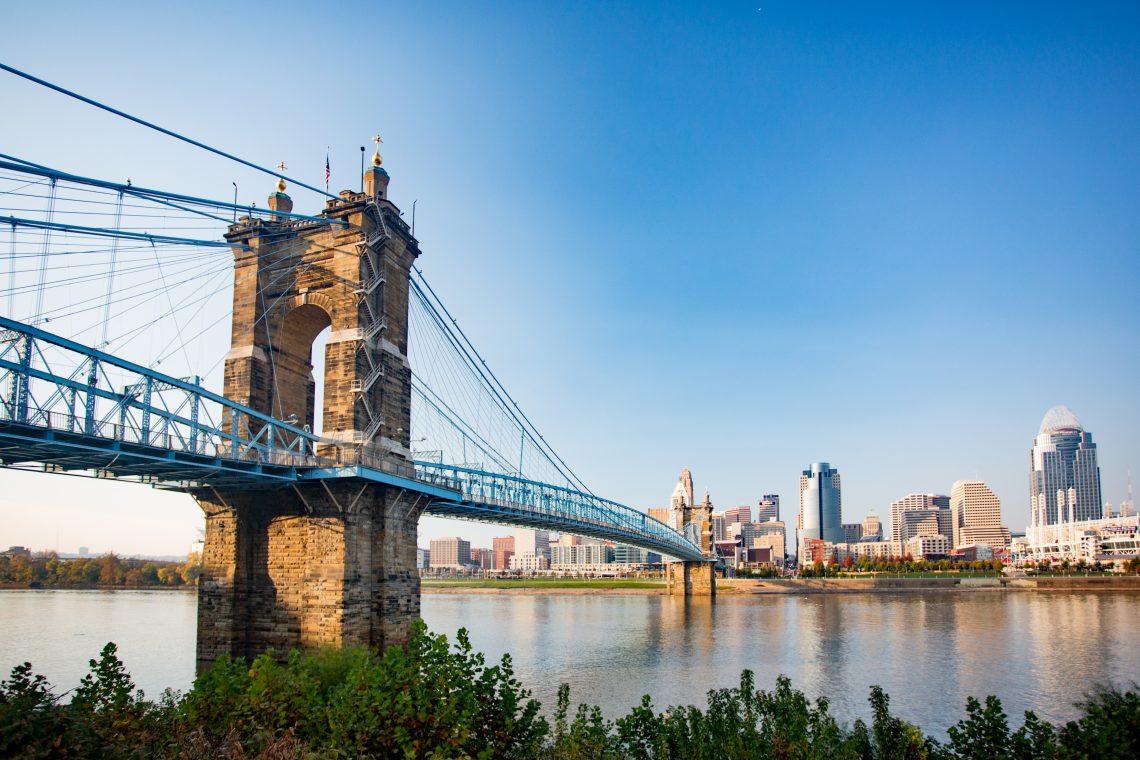 Cincinnati Skyline with Bridge