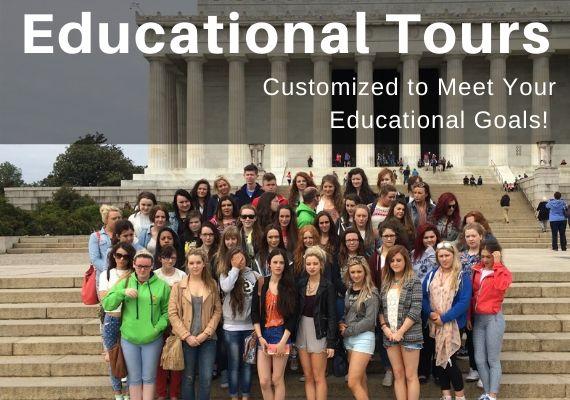 Washington DC Educational Tours. Call 888-796-8763 for Free Information on Washington DC Student Tours