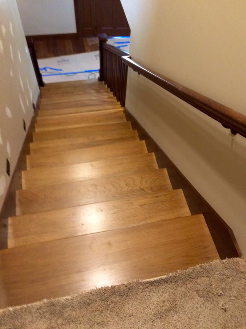 Custom Wood Stairs By Bailey Custom Woodworking In Springfield, IL.