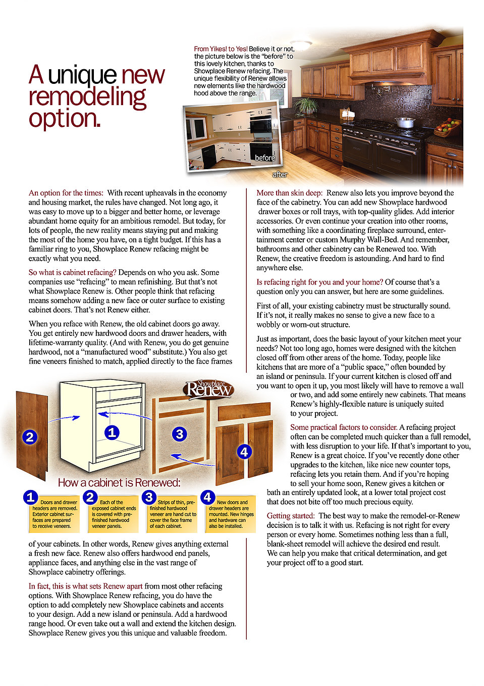 Renew Cabinet Refacing   From Before To After