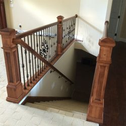 Fine hardwood stairs by Bailey Custom Woodworking in Springfield, IL.