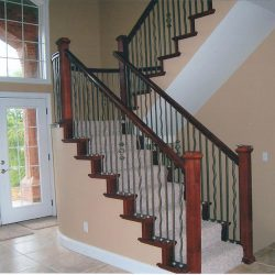 Luxury stair handrail by Bailey Custom Woodworking in Springfield, IL.