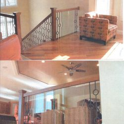 Contemporary wood banister by Bailey Custom Woodworking in Springfield, IL.