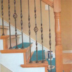 Custom wood staircase built by Bailey Custom Woodworking in Springfield, IL.
