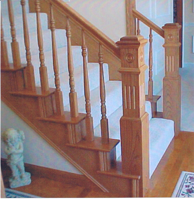 William S Woodworks Wood Stairs