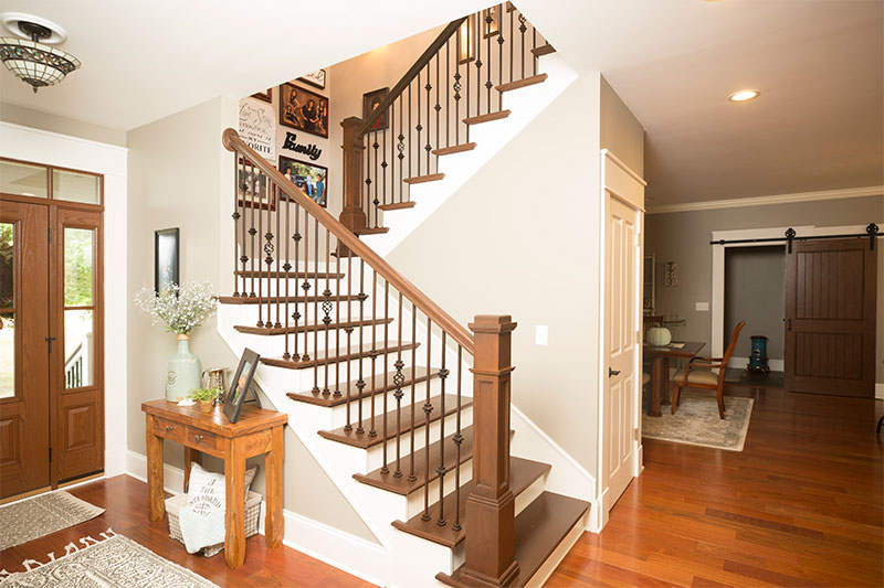 Custom Wood Stairs And Banister By Bailey Custom Woodworking.