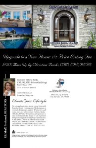 3% LUX Move Up: 1/2 Price Listing Rebate Christine Banks CRS,SRS,RSPS