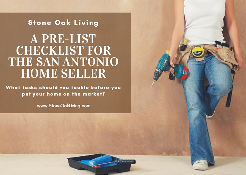 Before you put your San Antonio home on the market, go through my pre-list checklist to make sure your home makes the best impression on potential buyers. If you want top dollar, you need to make sure your property is in top shape before you list it.