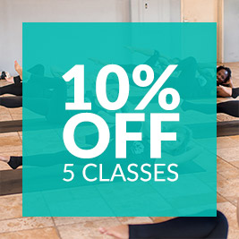 10% OFF 5 Classes