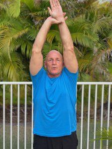 half moon posejimmy barkan hot yoga master