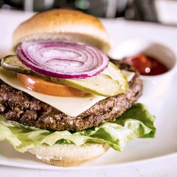 Simple burgers with gourmet ingredients at our burger shop.