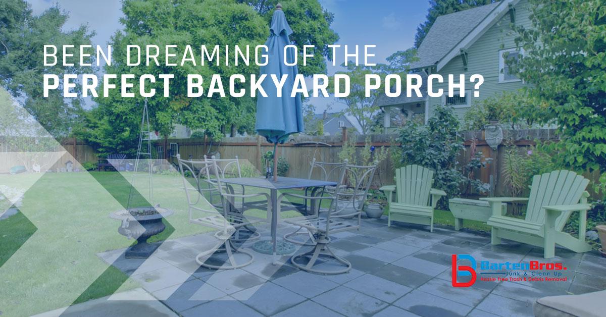 Perfect Backyard Porch