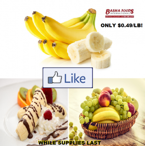 BANANAS ONLY 49 CENTS/LB!