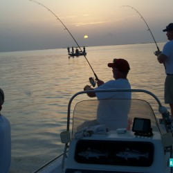 Early In The Morning With All 3 Catching A Speckled Trout