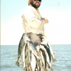 Capt. Clay With Some Nice Speckled Trout