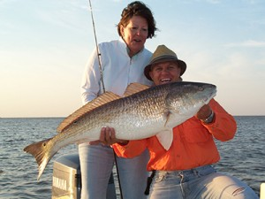 Her first Bull Red she ever caught