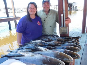 Red Fish Charters Out Of Bayou Log Cabins Fishing Lodge