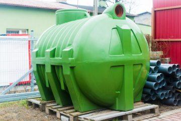 Large, Green Septic Tank