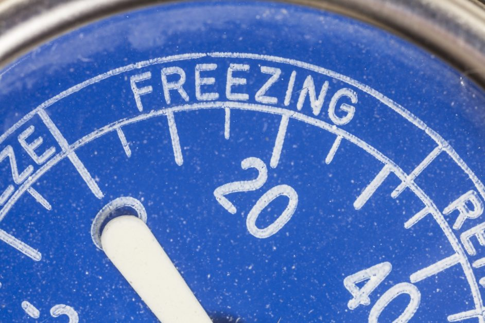 Freezing on a Thermometer