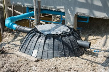 Septic Tank Installation on a Construction Site