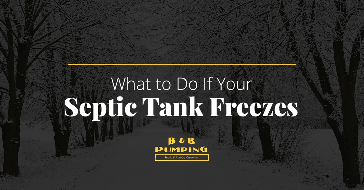 What to Do If Your Septic Tank Freezes