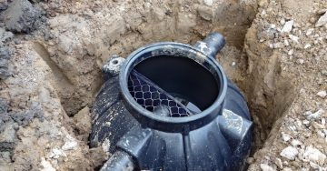 Septic Tank Installation With Cover Removed