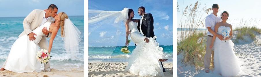 A beach wedding in Gulf Shores, AL