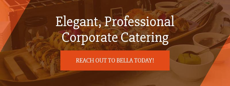 Call to action advertising corporate event catering services.