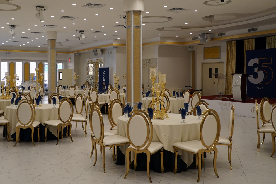 An image of Bellozino and one of its ballrooms.